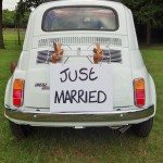 Hand written Just Married sign